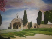 """tableau paysages chapelle provence : """"Chapelle en Provence"""""""