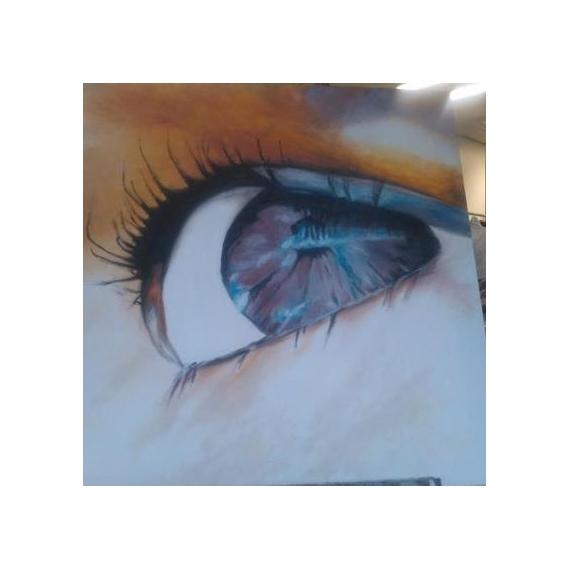 TABLEAU PEINTURE Peinture a l'huile  - Regard