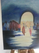 tableau scene de genre maroc afrique lumi : Lumière