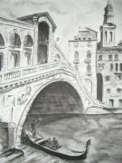 tableau venise gondole pont : VENISE