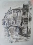 tableau marine pont venise canal : venise