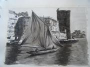 tableau marine marseille voilier vieuxport : VIEUX-PORT
