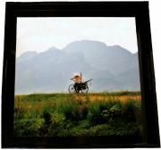 """deco design paysages campagne vietnamienn plateau laque deco : Plateau en laque """"Campagne"""""""