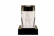 deco design personnages bougeoir verre buffle laser : Bougeoir gravé au laser