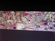 tableau autres art pop collage customisation art de rue : PINK LADY