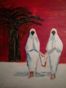 tableau : Retour de Jamaa - El - Fna 12 Figure 61 x 50 cm