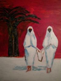 Retour de Jamaa - El - Fna 12 Figure 61 x 50 cm