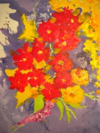 Saxifrages 12 Figure 61 x 50 cm