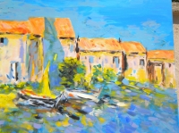 Summer Time in Barcares 100 F 162 x 130 cm