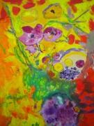 tableau : Rose Tyrien 12 Figure 61 x 50 cm