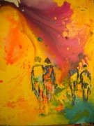 tableau acra magenta : Acra Magenta 12 F 61 x 50 cm