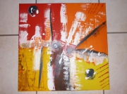 tableau abstrait abstrait moderne contemporain : tourbillons