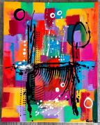 tableau abstrait : Le voyage
