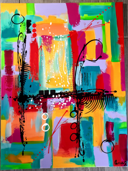 TABLEAU PEINTURE Abstrait Acrylique  - Une évidence