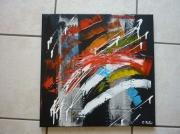 painting abstrait abstrait moderne contemporain : bad news