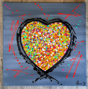 tableau abstrait : Je t'aime à la perpetuité