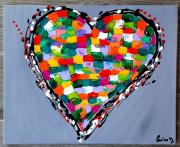 tableau abstrait : Cœur 1