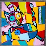 tableau abstrait : Chapeauté