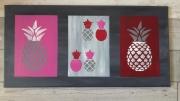 tableau abstrait abstrait moderne ananas : Les nanas roses