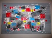 tableau abstrait abstrait moderne contemporain gris : urban style