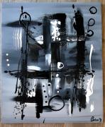 tableau abstrait : Le chemin