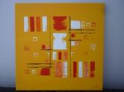 tableau abstrait abstrait moderne contemporain jaune : on the road (VENDU)