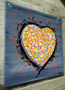tableau abstrait : Love is in the air