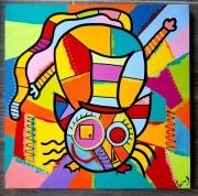 tableau abstrait : La tête à l'envers