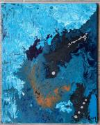 tableau abstrait : Au creux de la vague