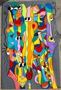 tableau abstrait : Un grain de folie