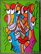 tableau abstrait : Les imbéciles heureux 2
