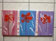 tableau abstrait abstrait moderne contemporain : poppies