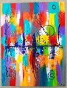 tableau abstrait : Mon soleil