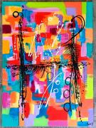 tableau abstrait : En apesanteur