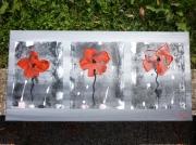 tableau abstrait coquelicot abstrait moderne contemporain : red poppies (vendu)