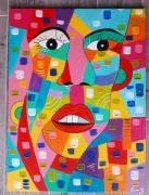 tableau abstrait moderne contemporain : Le bonheur