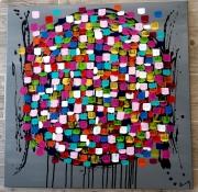 tableau abstrait abstrait moderne contemporain : Faire entrer la lumière