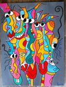 tableau abstrait : Les 7 fantastiques