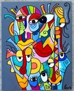 tableau abstrait : Méli-mélo