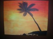 tableau marine : Couché de soleil