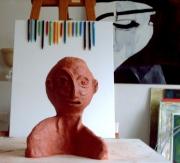 sculpture personnages : L'étonnement