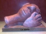 sculpture personnages : La sieste