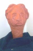 sculpture personnages : Chez le coiffeur