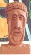 sculpture personnages : Sourire tunisien