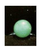bijoux autres bague jade vert pierre : bague bille jade verte