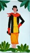 tableau personnages femme mode annees folles 1925 : pochette de feu