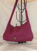 art textile mode autres sac ,a main bandouliere femme laine : sac besace violine