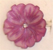 bijoux fleurs bague nacre argent rose : bague eglantine rose