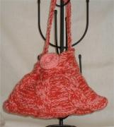 art textile mode autres sac ,a main fillette tricot laine : sac berlingot rose