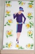tableau personnages femme mode annees folles 1925 : la dame au sautoir